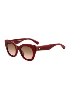 Kate Spade acetate cat-eye sunglasses
