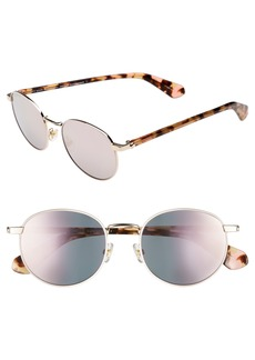 kate spade new york adelais 50mm round sunglasses