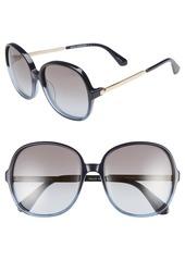 kate spade new york adriyanna 60mm round sunglasses