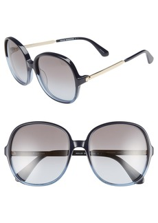 kate spade new york adriyanna 60mm round sunglasses
