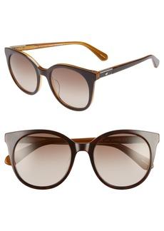 kate spade new york akayla 52mm cat eye sunglasses