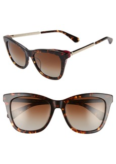 kate spade new york alexane 53mm polarized cat eye sunglasses