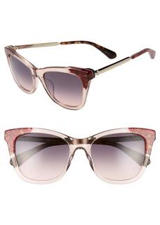 kate spade new york alexanes 53mm cat eye sunglasses