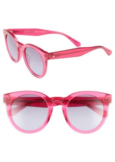 kate spade new york alexuss 50mm round sunglasses