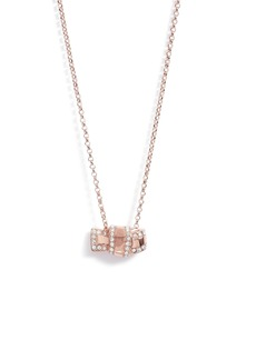 kate spade new york all tied up pavé pendant necklace