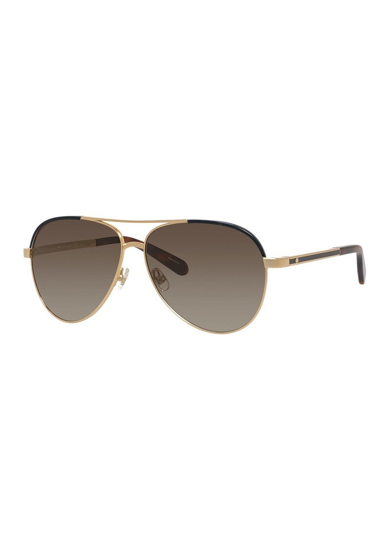 Kate Spade amaris two-tone aviator sunglasses