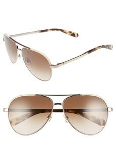 kate spade new york amarissa 59mm polarized aviator sunglasses