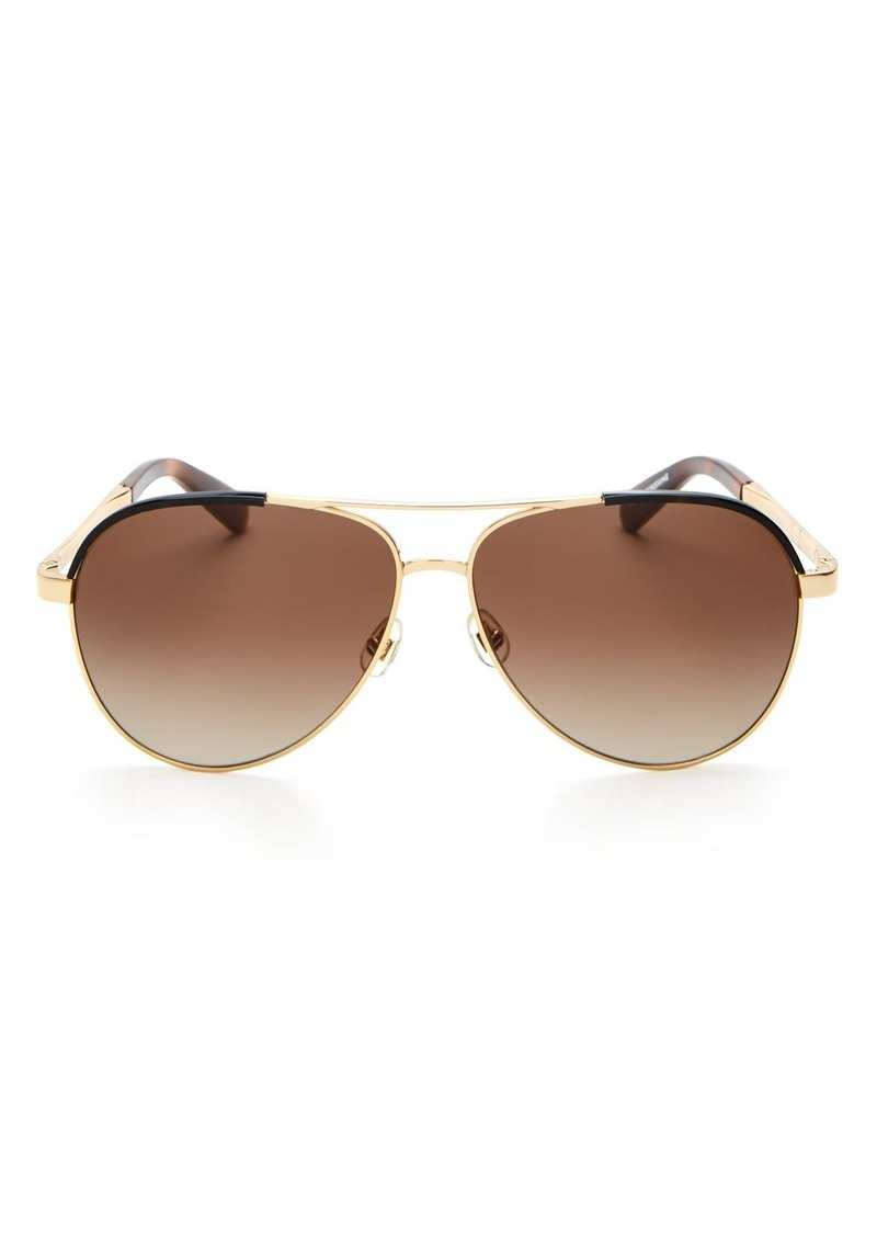 kate spade new york Women's Amarissa Aviator Sunglasses, 60mm