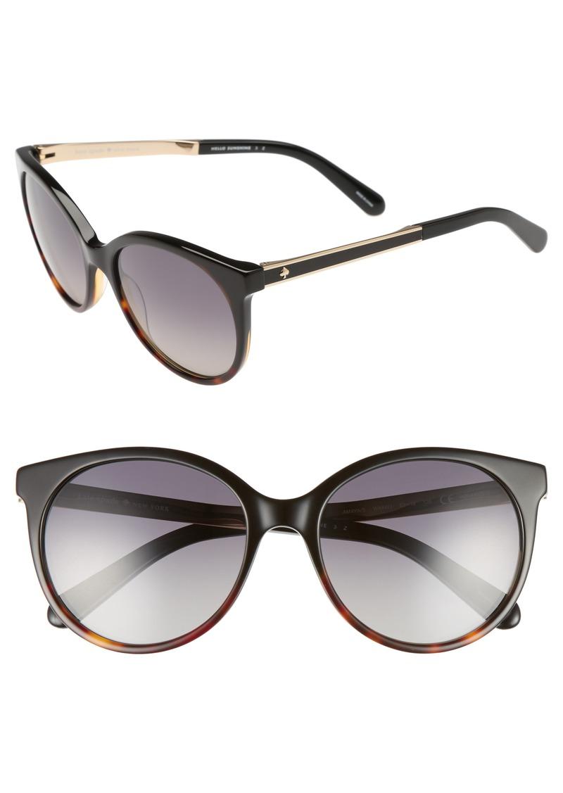 kate spade new york 'amayas' 53mm cat eye sunglasses