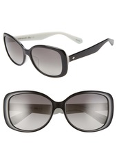 kate spade new york amberlyn 57mm special fit polarized square sunglasses (Nordstrom Exclusive)