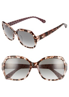 kate spade new york amberlynn 57mm sunglasses