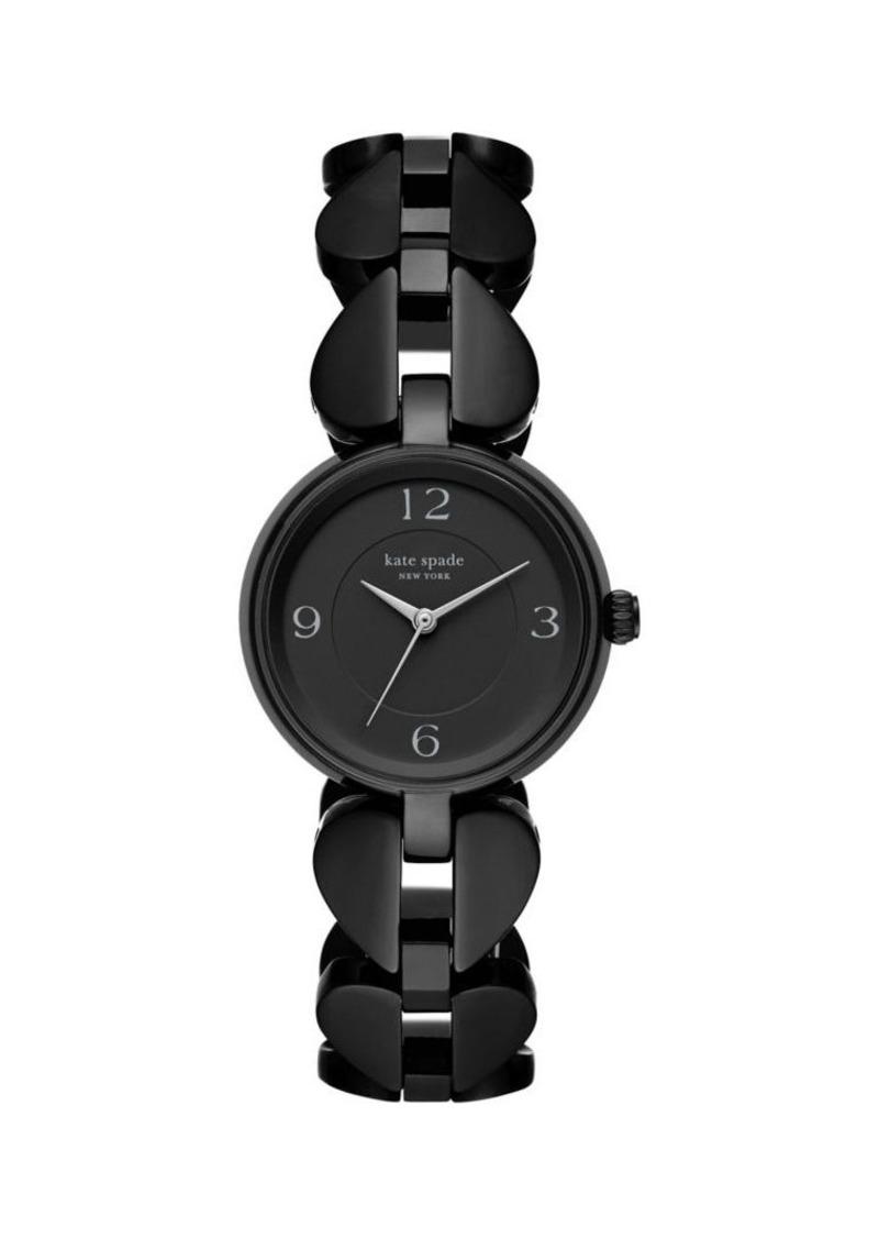Kate Spade New York Annadale Three-Hand Black Stainless Steel Watch