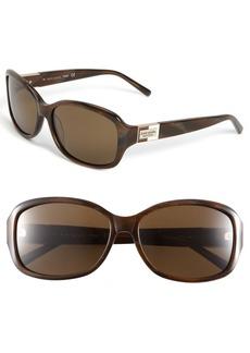 kate spade new york 'annika' 56mm polarized rectangular sunglasses