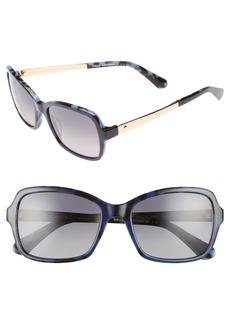 kate spade new york annjanette 55mm polarized sunglasses