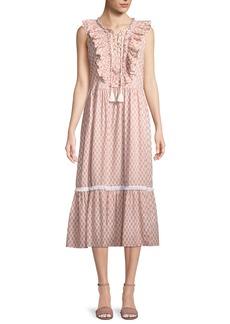 kate spade new york arrow stripe dress w/ lace-up front
