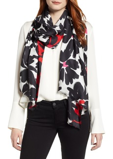 kate spade new york artistic floral oblong scarf