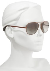 kate spade new york avaline 58mm aviator sunglasses
