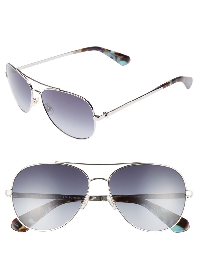 df8d3498a3 Kate Spade kate spade new york avaline 58mm aviator sunglasses ...