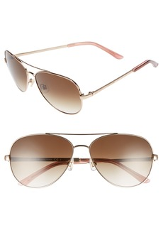 kate spade new york 'avaline' 58mm aviator sunglasses