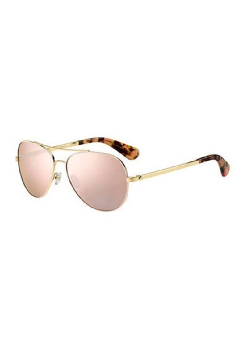 e3446557e5a Kate Spade avaline mirrored aviator sunglasses