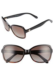 kate spade new york ayleen 56mm polarized sunglasses