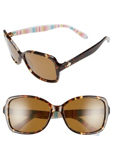 kate spade new york 'ayleen' 56mm polarized sunglasses