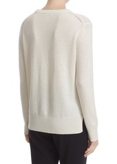 kate spade new york 'baby it's cold outside' embroidered wool blend sweater