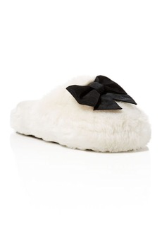 kate spade new york Bali Faux Fur Slippers