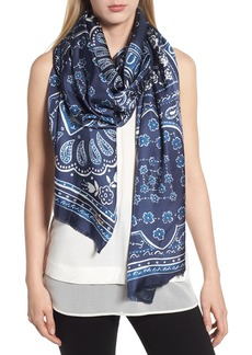 kate spade new york bandana silk oblong scarf