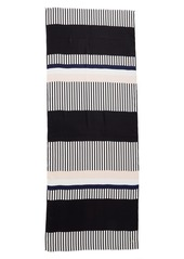 kate spade new york 'bay stripe' silk scarf