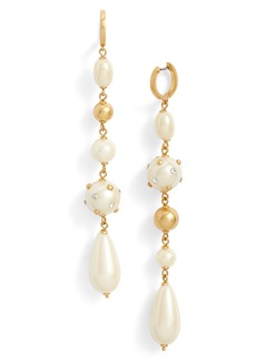 kate spade new york beaded linear drop earrings