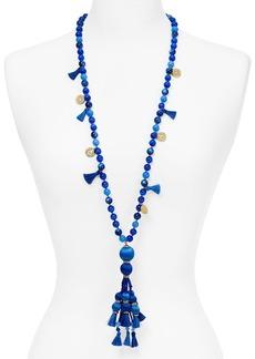 "kate spade new york Beaded Tassel Pendant Necklace, 34"""