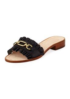 Kate Spade beau pebbled chain slide sandal