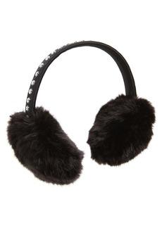 kate spade new york bedazzled faux fur earmuffs