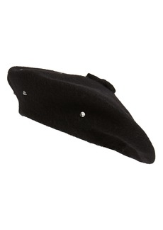 kate spade new york bedazzled felt beret