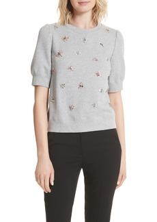 kate spade new york bee embellished sweatshirt