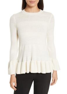kate spade new york bell cuff textured sweater