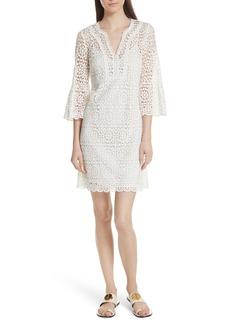 kate spade new york bell sleeve crochet shift dress