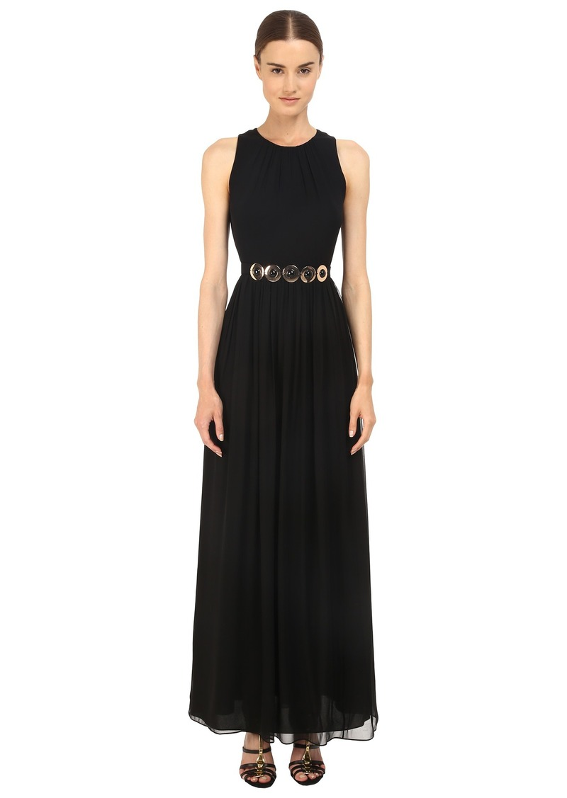 Kate Spade New York Belted Chiffon Maxi Dress