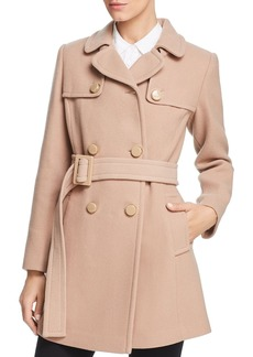 kate spade new york Belted Double-Breasted Button Front Coat
