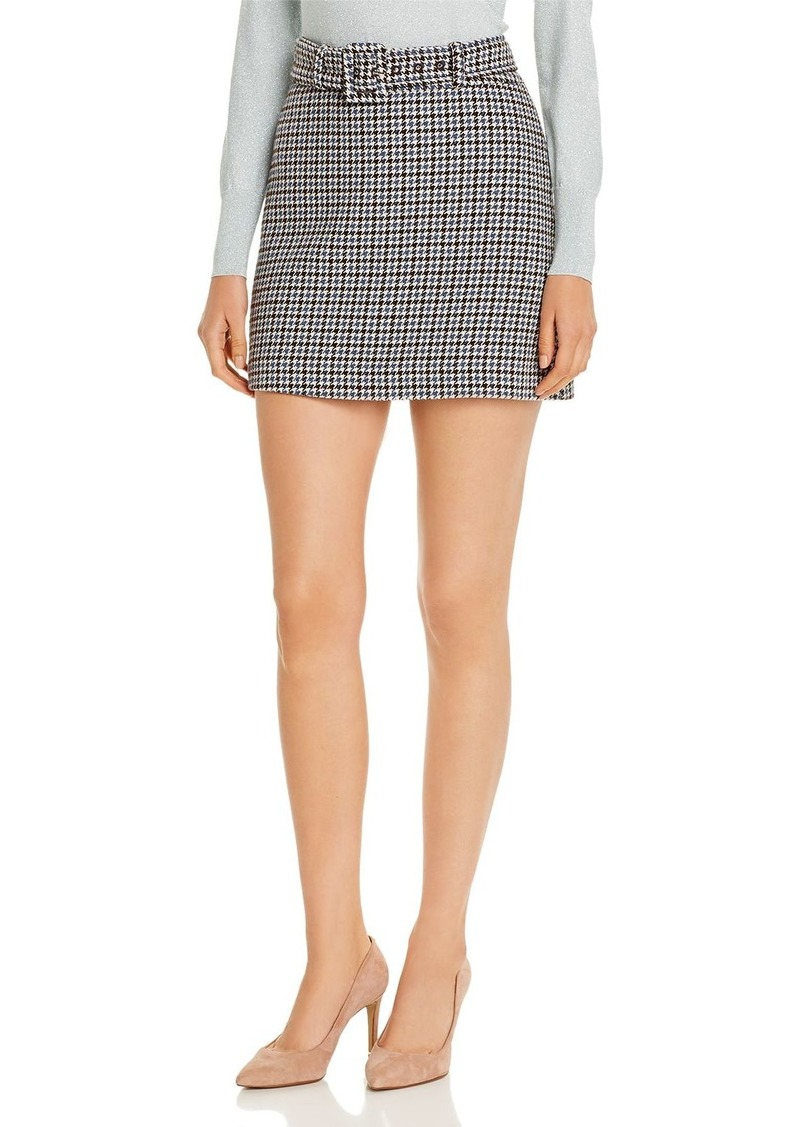kate spade new york Belted Houndstooth Mini Skirt
