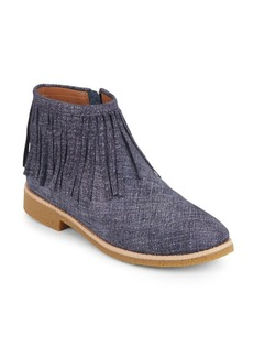Kate Spade New York Betsie Too Fringed Chambray Ankle Boots