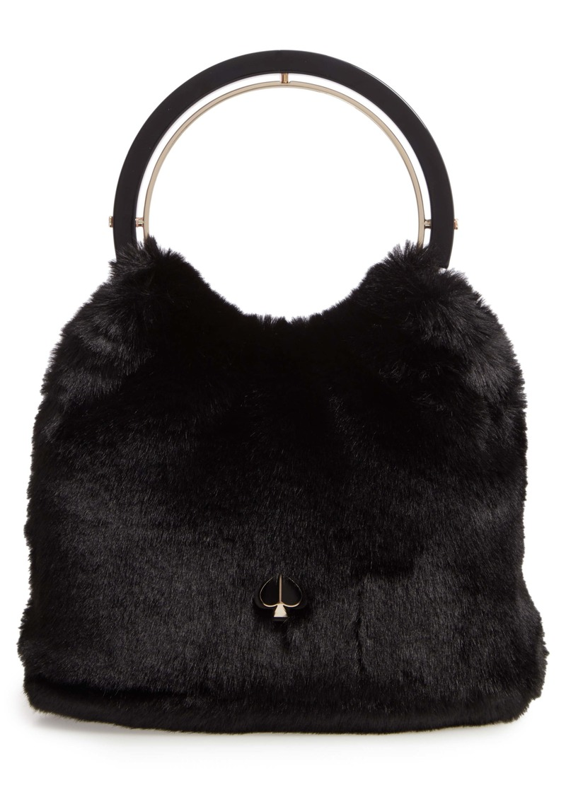 kate spade new york betty faux fur top handle bag