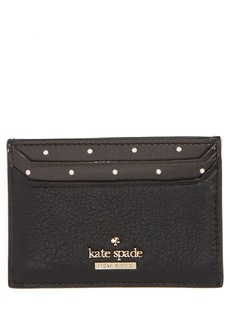 kate spade new york blake street - dot lynleigh leather card case