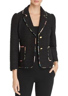 kate spade new york Blossom-Trimmed Tweed Blazer