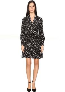Kate Spade New York Blot Dot V-Neck Dress