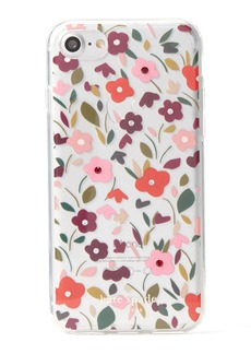 kate spade new york boho floral clear studded iphone 7 case