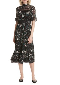 kate spade new york botanical chiffon midi dress