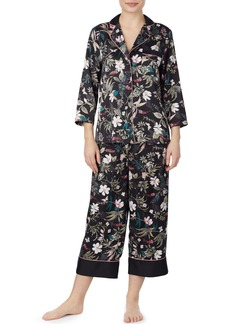 kate spade new york botanical crop pajamas