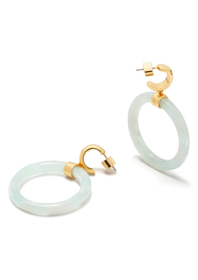 kate spade new york botanical garden hoop earrings